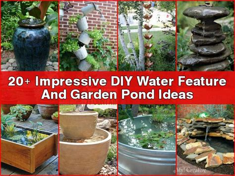 backyard water feature diy 20 impressive diy water feature and garden pond ideas