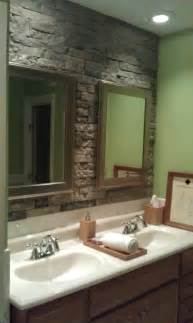 airstone accent wall in bathroom can t wait to do
