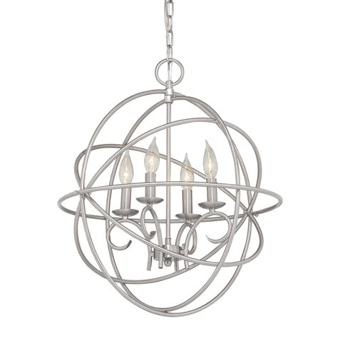 brushed nickel pendant light lowes shop kichler vivian 19 02 in 4 light brushed nickel globe