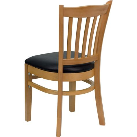 Restaurant Chair by Hercules Wood Finished Vertical Slat Back Wooden
