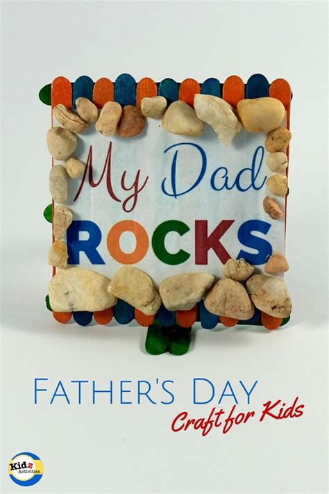 fathers day craft for rocks s day craft kidz activities