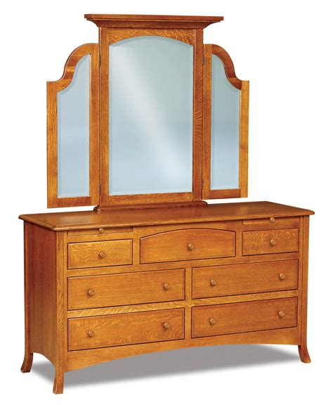 carlisle 7 drawer dresser with arched drawers and 2