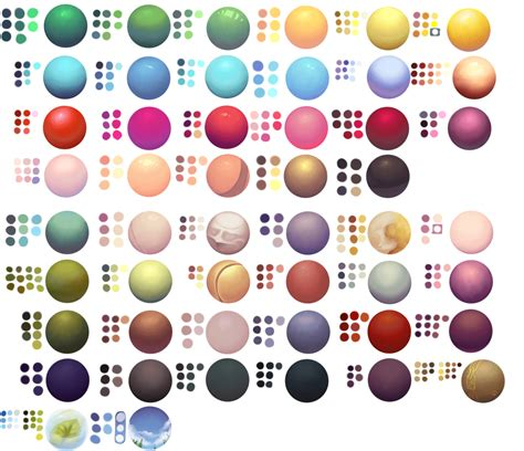 paint tool sai colour palette poster