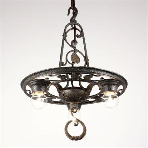 Antique Cast Iron Chandelier Handsome Antique Three Light Tudor Chandelier Cast Iron Nc1214 For Sale Antiques