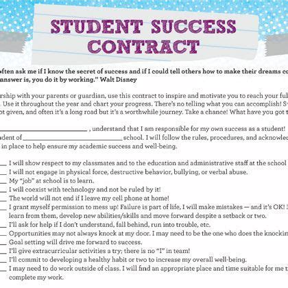 student contracts templates student success contract resources