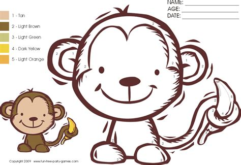 color monkey monkey to colour new calendar template site