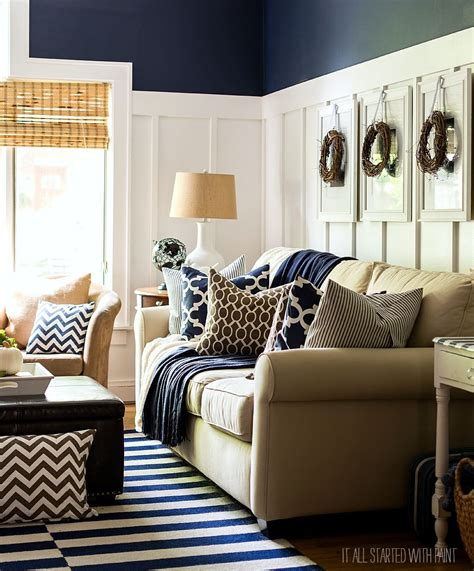 brown and blue decor fall decor in navy and blue batten neutral and living rooms