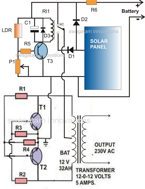 solar inverter charger circuit for science project