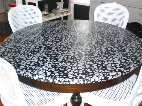 Decoupage Kitchen Table - parlour decoupaging with fabric
