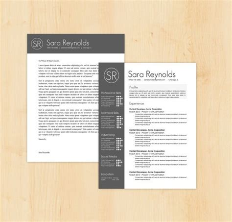 resume template cover letter template sara