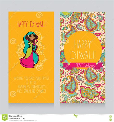 indian birthday card template diwali greeting cards stock vector image 75345577