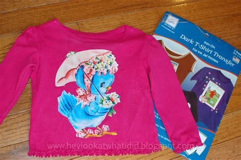 How To Make Transfer Paper For T Shirts - hey look at what i did easy vintage showers shirt