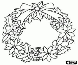 Weihnachtskränze 2017 ausmalbilder weihnachts kr 228 nze und girlande malvorlagen 2