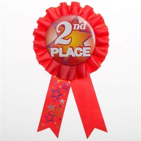 Winter Wonderland St Birthday Decorations - 2nd place rosette ribbon button