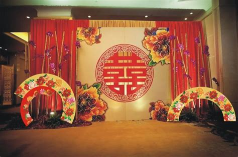 traditional wedding stage set up traditional