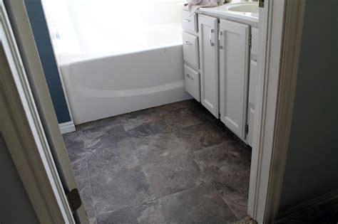 peel  stick bathroom floors chris loves julia