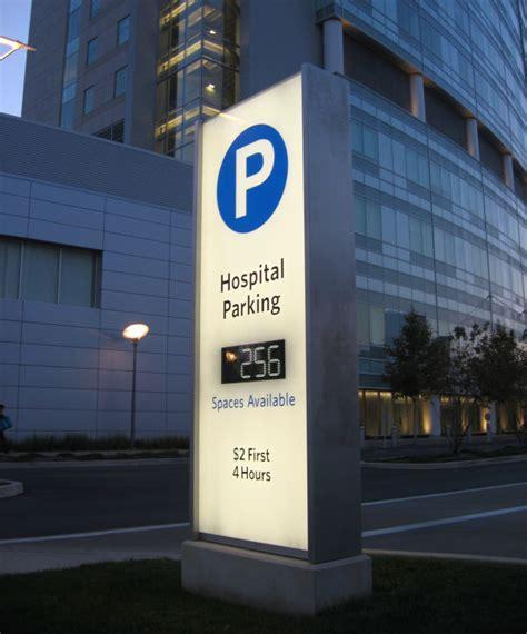 digital parking lot light timer 3form alternative for hospital signage l h sign company