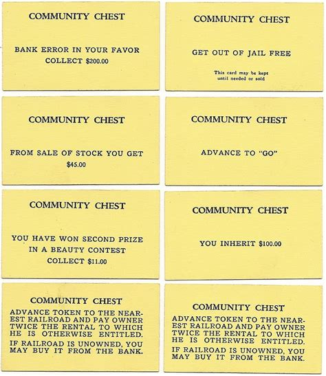 Monopoly Chance Cards Template by 15 Best Photos Of Print Monopoly Chance Cards Monopoly