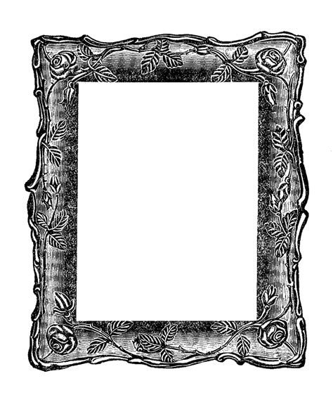 vintage square frame antique images vintage graphic decorative square frame digital clipart