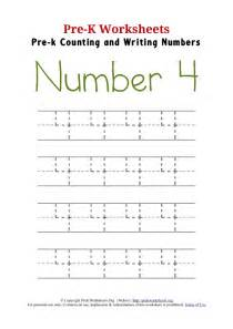 Number 4 4 worksheet activity for preschoolers trace the numbers