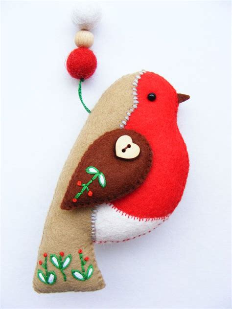 pattern for a felt robin pdf pattern felt robin with embroidered details by
