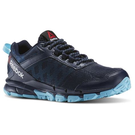 running shoes sears reebok s trail warrior athletic shoe navy light blue