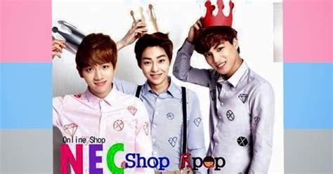 Tshirt Baju Kaos Kpop Exo baju exo exo shirt kemeja exo baju exo nec shop kpop