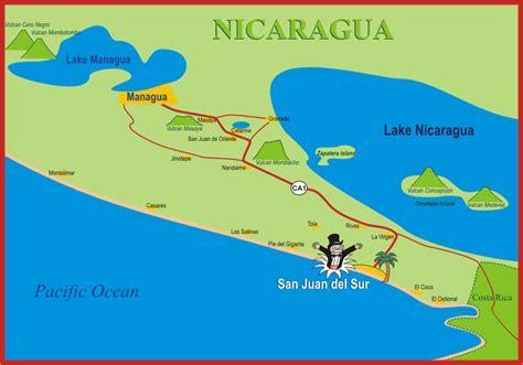 san jose nicaragua map location of park avenue villas hotel san juan sur