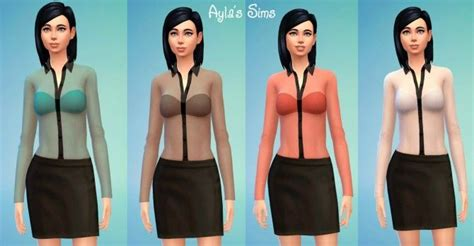 Ayla Blouse transparent blouse at ayla s sims via sims 4 updates