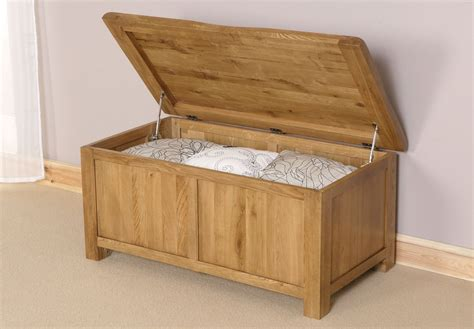 oak ottoman ukg rustic solid oak storage ottoman indoor bedroom