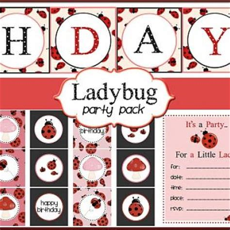 printable ladybug birthday banner ladybug themed birthday party printables free stuff