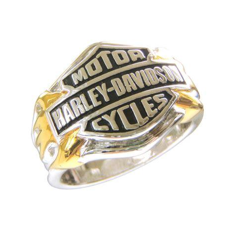 Harley Davidson Men's Sterling Silver Classic Logo Ring