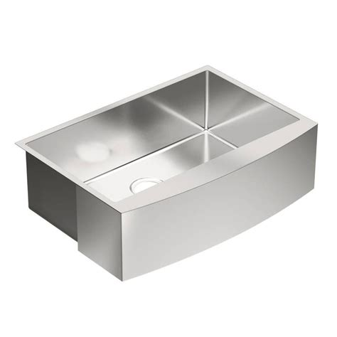 Moenstone Kitchen Sinks Moen 1800 Series Apron Front Stainless Steel 30 In Single Bowl Kitchen Sink G18121 The Home Depot