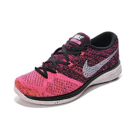 nike flyknit lunar 3 womens running shoes pink white