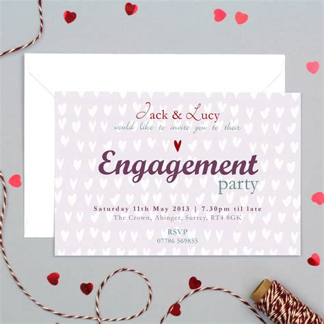 Personalised Engagement Party Invitation By Molly Moo Designs Notonthehighstreet Com Engagement Card Template