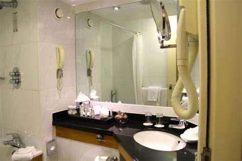 Bathroom On The Right by Bathroom Note Hair Dryer Hanging On The Right Picture Of Hotel Dublin Tripadvisor