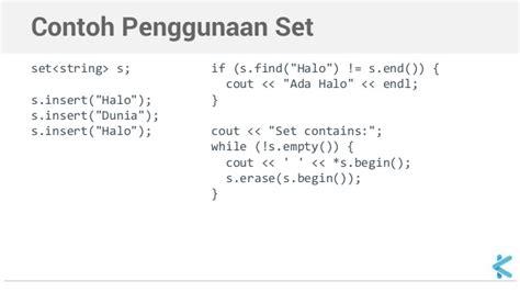 pemrograman c standard template library