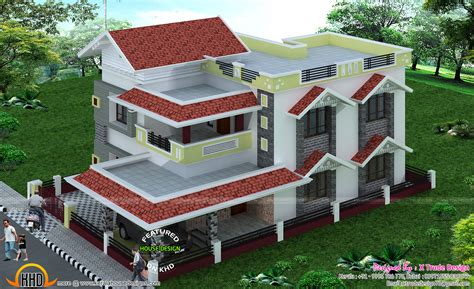 top house plan designers 2581 sq ft house by x trude design kerala home design and floor plans