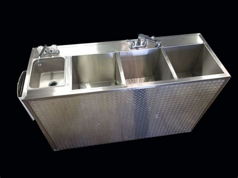 Electric Sink jumbo portable 4 compartment sink 110v electric