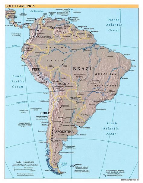 south america driving map maps of south america and south american countries