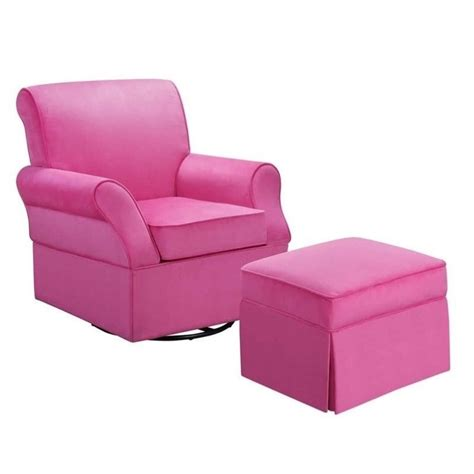 swivel glider and ottoman baby relax kelcie swivel glider and ottoman in pink
