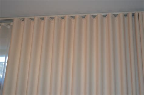 Curtains On Ceiling Track Ripplefold Header With Utility White Traverse Rod No Rings Ceiling Mounted