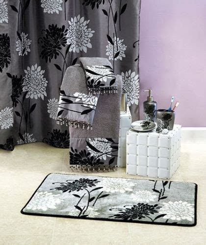 black white gray shower curtain gray shower curtains curtain accessories and shower
