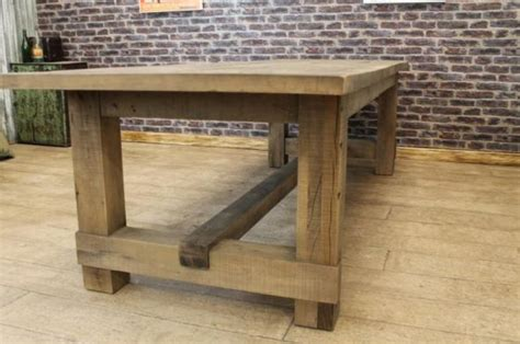 rustic oak kitchen table oak farmers table dining table large chunky reclaimed oak