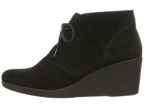 crocs leigh suede wedge shootie at zappos