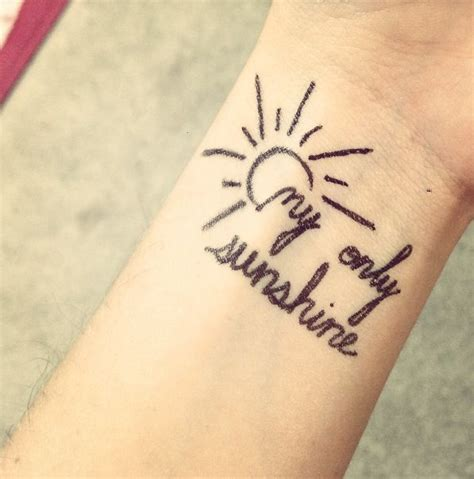 you are my sunshine tattoos the gallery for gt you are my my only