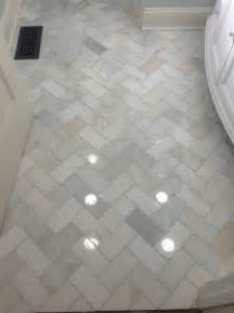 Marble Tile Bathroom Floor Herringbone Marble Bathroom Floor Home Decor