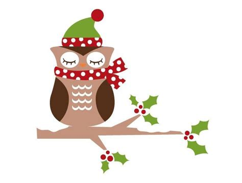 images of christmas owls christmas owl wall decal holidays pinterest