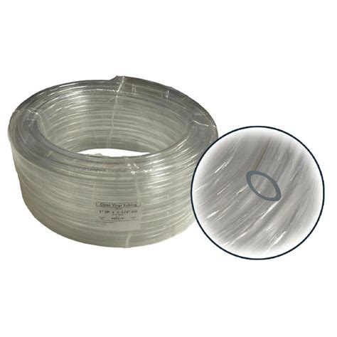 alpine 1 in id x 1 8 in wall pvc clear tubing coil