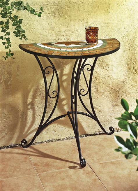 Wandtisch Halbrund by Wandtisch Tisch Halbrund Gartentisch Garten Deko Metall Ebay
